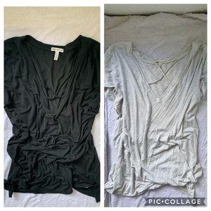 Two Victoria Secret Crisscross Shirts